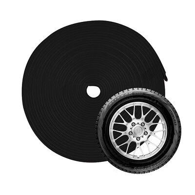 26FT Car Wheel Hub Rim Trim Edge Protector Ring Tire Strip Guard Sticker Black