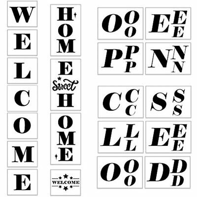 Koogel 21PCS Wele Stencils, Open Closed Signs Templates For Painting On Store