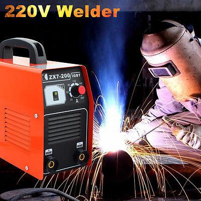 Portabe 220v Igbt 200 Amp Dc Inverter Welding Machine Mma Arc Welder Us Shipping