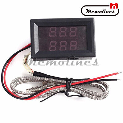 Dual Led K-type Thermometer Thermocouples High Temperature Sensor Probe Tester