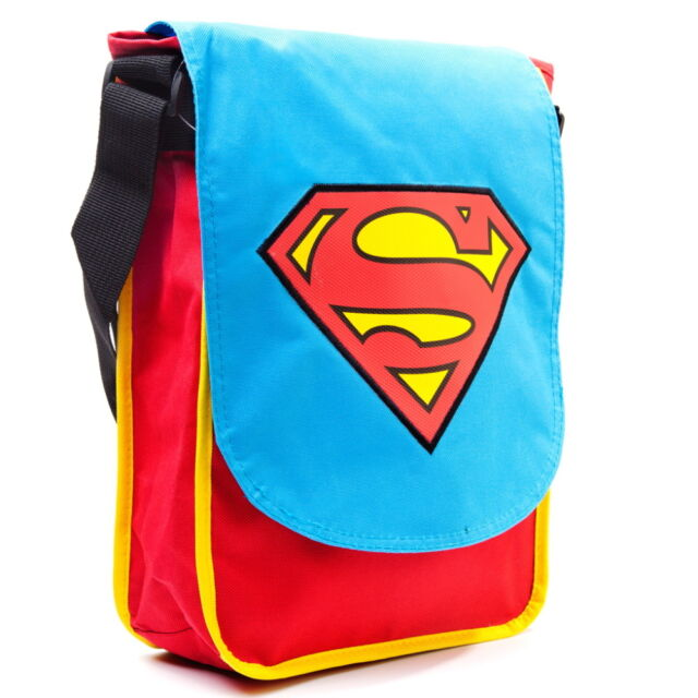 NEW OFFICIAL DC Comics Superman Classic Logo Crossbody Flight Shoulder Bag