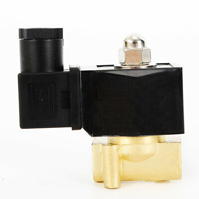 12 Brass Electric Solenoid Valve For Oil Water Ga Highly Reliable Industrial