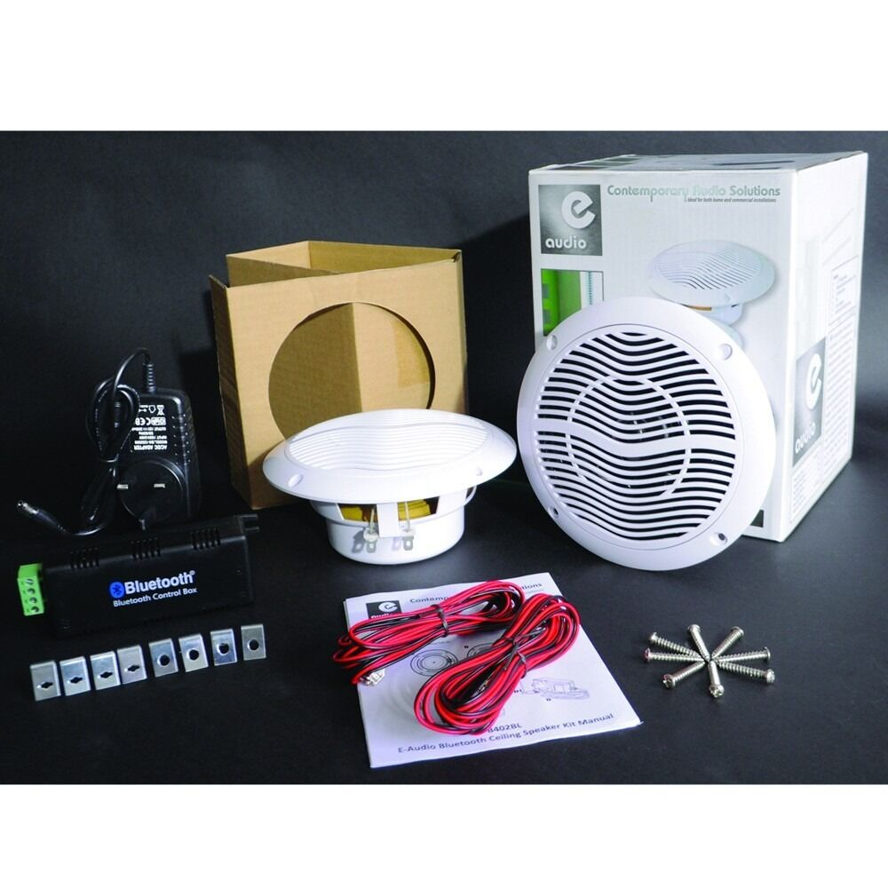Bluetooth Ceiling Speaker Kit For Bathroom Kitchen Bedroom ...