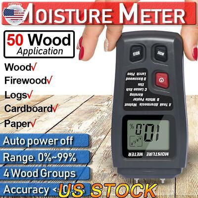 Us Digital Lcd Wood Moisture Meter Detector Tester Wood Firewood Paper Cardboard