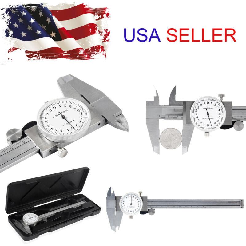 """150mm /0.001inch Dial Vernier Caliper Measurement Gauge Micrometer Tool 6"""" &Case"""