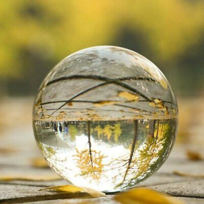60MM Clear Glass Crystal Ball Healing Sphere Photography Props Lensball Decor