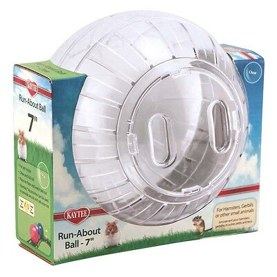 Kaytee Run-About Ball Clear 7 inch Diameter for Hamsters Gerbils Small Animals