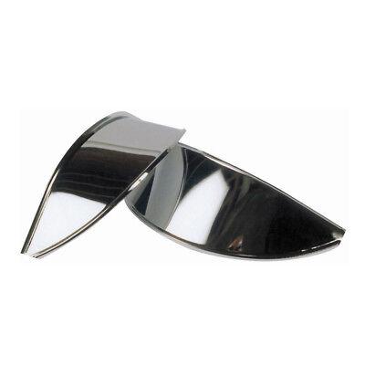 CLASSIC MINI HEADLAMP PEAKS STAINLESS STEEL PAIR 8B12399 AUSTIN MORRIS ROVER CA5