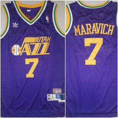 Rare Pete Pistol Maravich Utah Jazz Replica Throwback Large Basketball Jersey