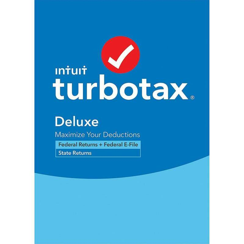 Intuit - TurboTax Deluxe Federal + E-File + State 2020 (1-User) - Mac, Windows