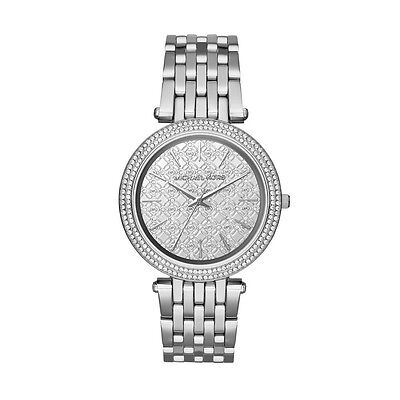 Michael Kors Women's Darci Silver Monogram Women's Watch MK3404