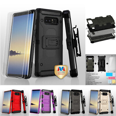 Samsung GALAXY Note 8 HYBRID Shock Proof Rugged Rubber Case Cover Holster Screen