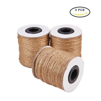 (3 Rolls Hemp Cord Twine String 2 Ply for Jewelry Making BurlyWood 1mm 100m/roll)
