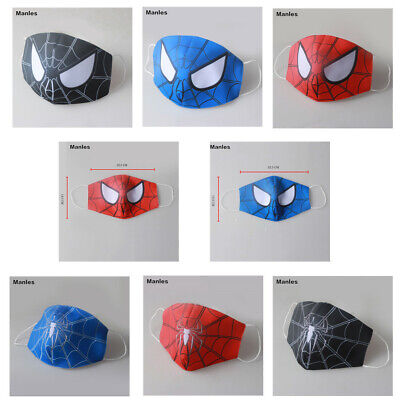 Adult Kids Marvel Spiderman Half Face Mask Cos Washable Mouth Cover Protection