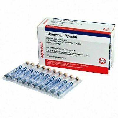 Septodont Lignospan Special 180000 With 2 Cartridges For Dental.