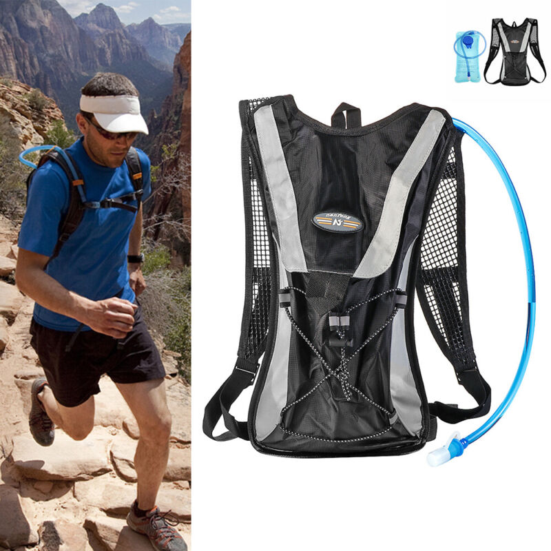 2L Water Bladder Bag Rucksack Cycling Hiking Camping Shoulder Bag Pack Backpack!