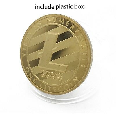 Litecoin Physical Collectible Coin Crypto Commemorative Lite Coin Gold Plated
