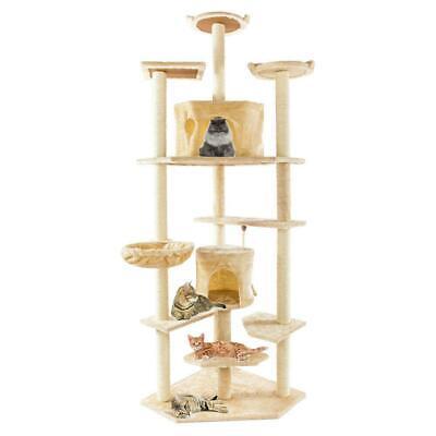 "80"" Cat Tree Condo Furniture Scratching Cat Climb Toys House"
