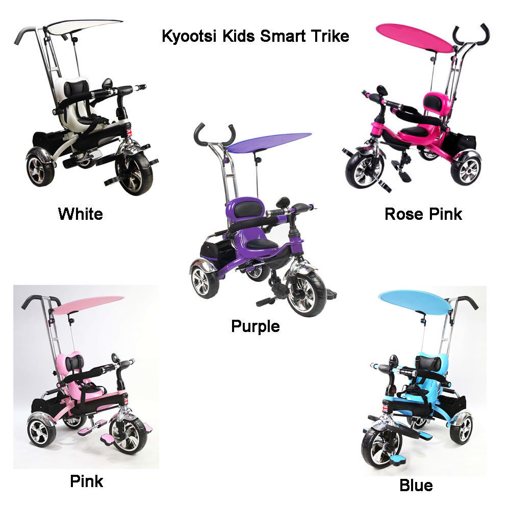 kyootsi smart trike three wheel 4 in 1 kids tricycle with. Black Bedroom Furniture Sets. Home Design Ideas