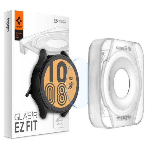 Galaxy Watch 4   Spigen [ Glas.tR EZ FIT ] Shockproof Slim Screen Protector
