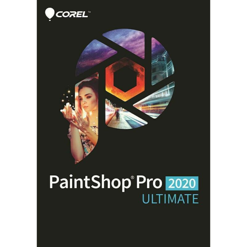 Corel PaintShop Pro 2020 Ultimate - RETAIL PACKAGING (Windows 7, 8, 8.1, 10)