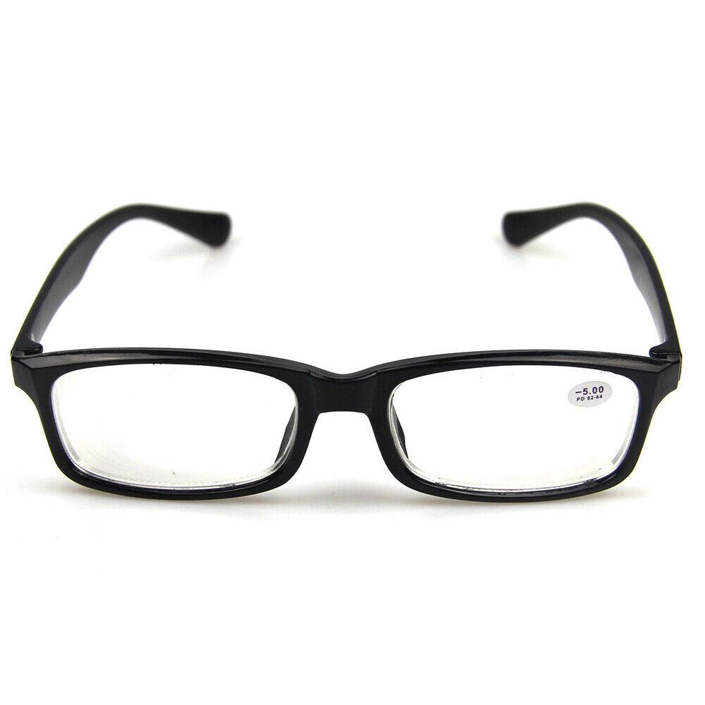 Kurzsichtig Brille -1.0 bis -6.0 Damen/Herren Lesen Sehhilfe Fernbrille Plastik