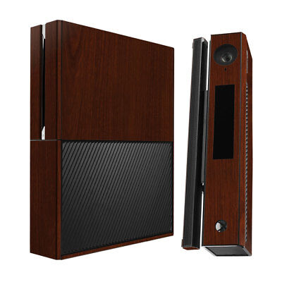 Skinomi Dark Wood Skin Cover for Microsoft Xbox One+Kinect Combo