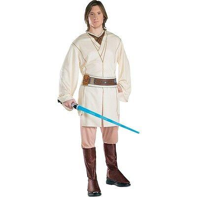 Star Wars Obi Wan Kenobi Adult Mens Costume, Tan, Rubies (Obi Wan Kenobi Costumes)