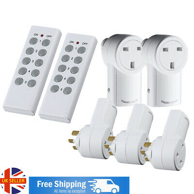 Wireless Remote Control Sockets UK Electrical Plug Outlet Switch