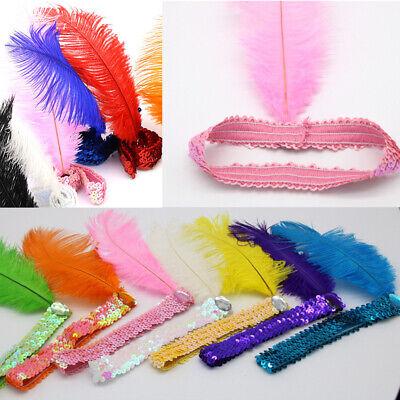 Vintage Flexible Feather Hebanband Flapper Burlesque Sequin Headwear Accessories](Flapper Headwear)