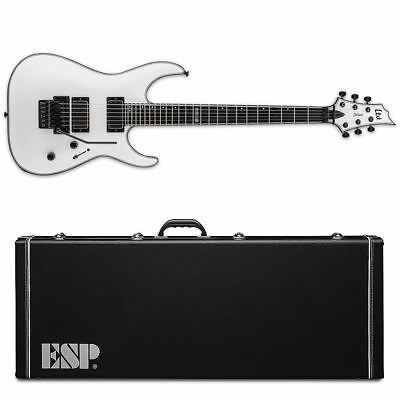 ESP LTD H-1001 FR Ebony MW Snow White NEW LH1001FRSWE Floyd Rose - With ESP CASE