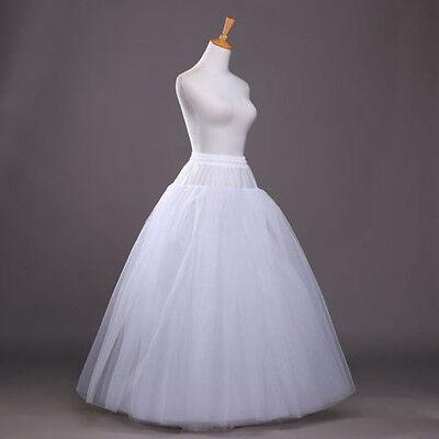 New 3-Hoops Wedding Dress Crinoline Prom Petticoat Skirt Slip White Underskirt