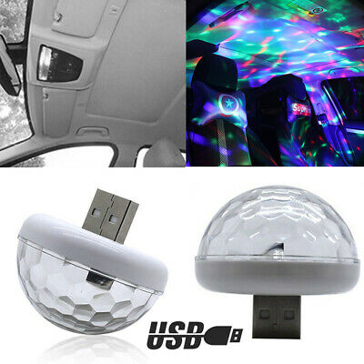 LED Car Interior Atmosphere Colorful Light USB Charge Decor Lamp Accessories (Lacrosse Decorations)