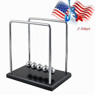 Usps Newtons Cradle Fun Steel Balance Ball Physics Science Pendulum Desk As Gift