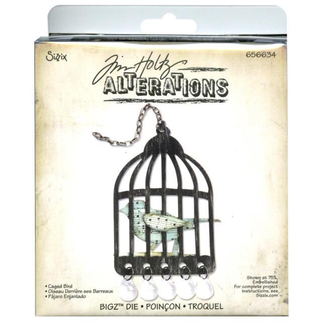 Tim Holtz Alteration - Sizzix Bigz Dies Caged Bird