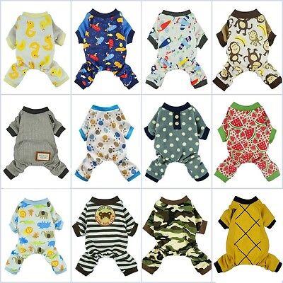 Fitwarm Boy Adorable Dog Clothes Pet Shirt Cat Pajamas Jumpsuit Small Medium XL