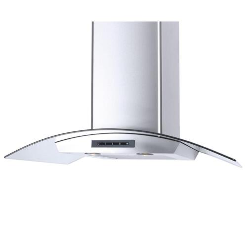 """Windster 36"""" Convertible Range Hood Stainless steel and glass WS-62N36SS"""