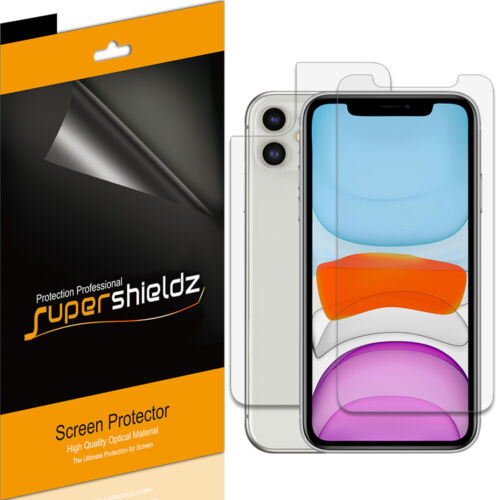 """Supershieldz Clear Screen Protector for iPhone 11 (6.1"""") (3 Front + 3 Back)"""