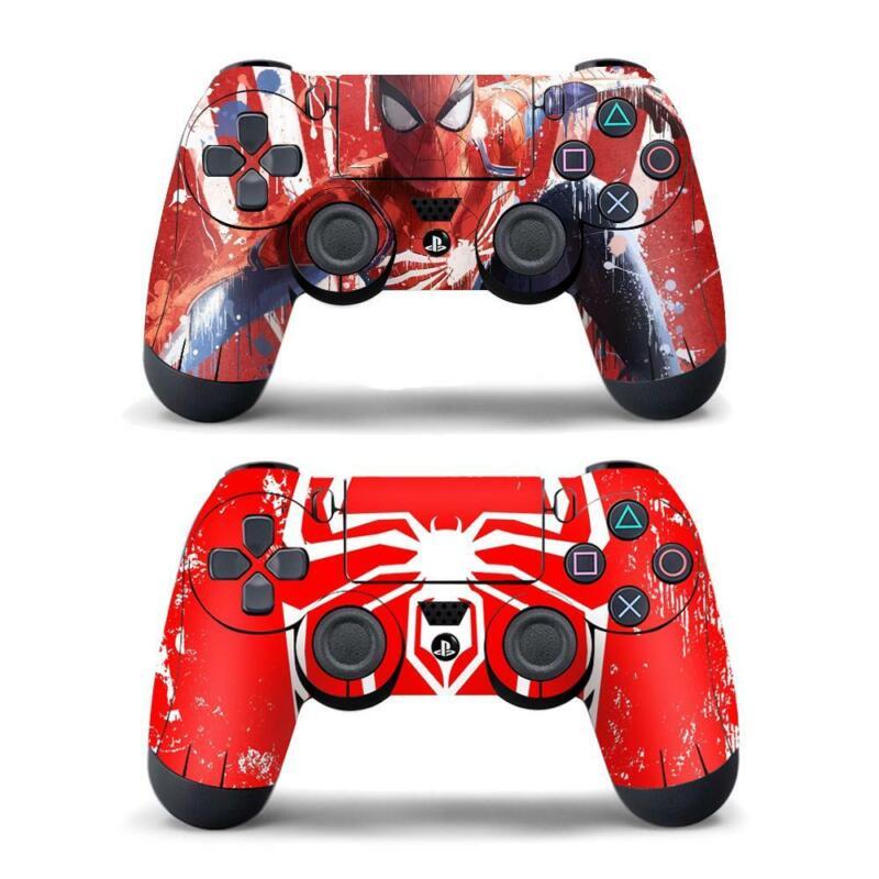 2 Pack PS4 Controller Dualshock Marvel Spider Man Logo Vinyl Skin Stickers Decal