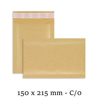 100 C/0 C0 Small GOLD Padded Bubble Lined Postal Envelopes Mail 150 x 215mm