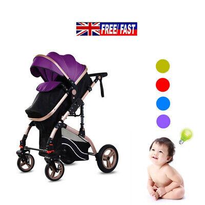 2 in 1 Newborn Baby Pram Car Seat Pushchair Travel System Buggy Stroller