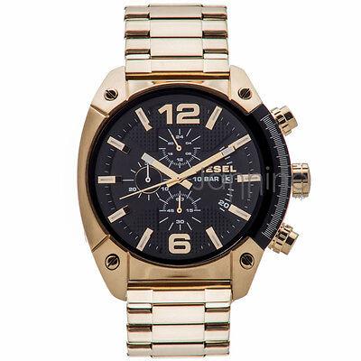 Diesel Authentic Watch DZ4342 Men's OverFlow Gold Stainless Steel Chronograph