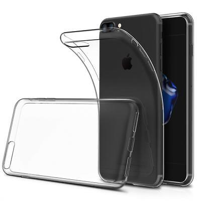 iPhone 7 / 8 SE Case Crystal Transparent Clear Flexible Soft Gel TPU Cover Slim