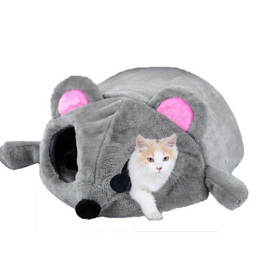 Cartoon Mouse Cat Bed Pet House Cushion Small Puppy Dog Sleeping Bed Igloo Cave