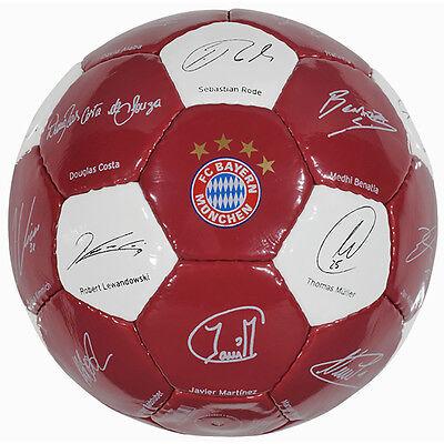 FC Bayern München Ball Unterschriften Signature 2016 klein Gr.1 Neu