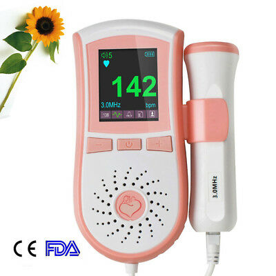 Medical Doppler Ultrasound 3mhz Fetal Doppler Baby Heart Monitor Free Gel Ce