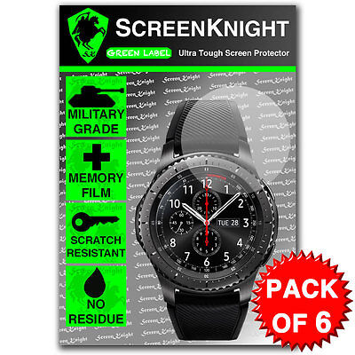 ScreenKnight Samsung Galaxy Gear S3 Frontier SCREEN PROTECTOR - PACK OF 6