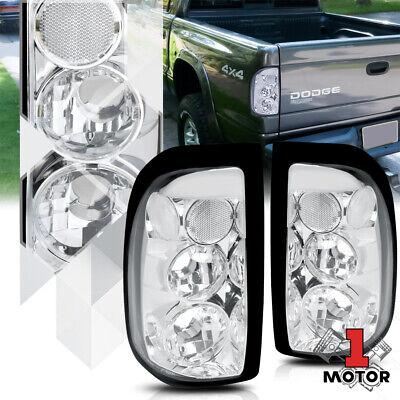 Chrome Housing Clear Lens *EURO ALTEZZA* Tail Light Brake Lamp for 97-04 Dakota