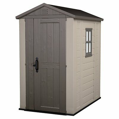 Keter Factor Large 4 x 6 ft. Resin Outdoor Backyard Garden Storage Shed
