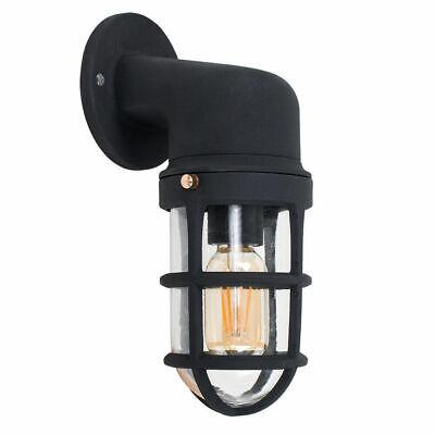 Modern Wall Lights Exterior Outdoor IP44 Garden Lantern Lighting Black Aluminium